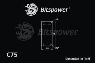 "Dual IG1/4"" F/F Extender-40MM - Silver Shining"