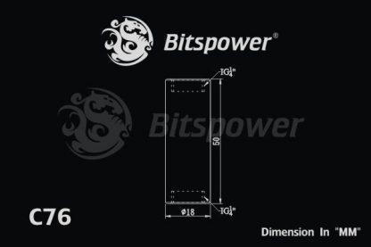 """Dual IG1/4"""" F/F Extender-50MM - Matt Black-4"""