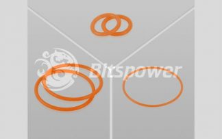 O-Ring Kit For Bitspower Dual D5 MOD TOP (UV Orange)