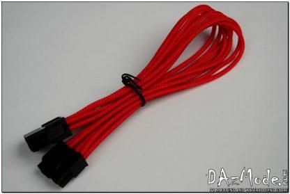 "4+4 EPS 12"" (30cm) HSL DarkSide Single Braid Cable - Red UV-2"