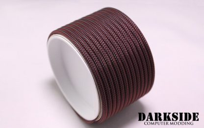 """5/32"""" (4mm) DarkSide HD Cable Sleeving - Lava Red"""