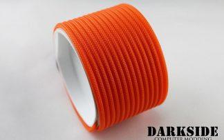 """5/32"""" (4mm) DarkSide HD Cable Sleeving - Orange UV"""