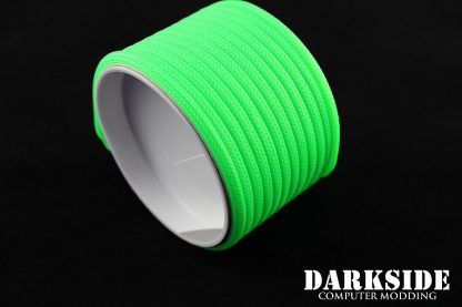 """5/32"""" (4mm) DarkSide HD Cable Sleeving - Green UV"""