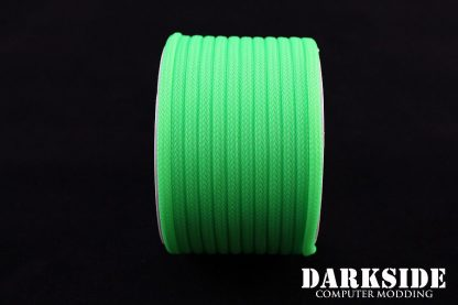 """5/32"""" (4mm) DarkSide HD Cable Sleeving - Green UV-2"""