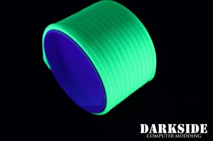 """5/32"""" (4mm) DarkSide HD Cable Sleeving - Green UV-3"""