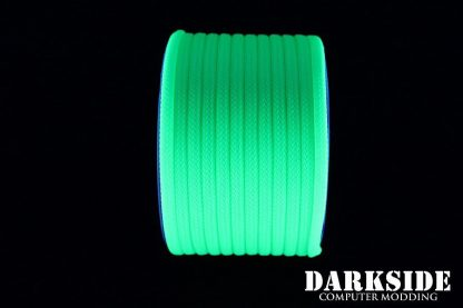 """5/32"""" (4mm) DarkSide HD Cable Sleeving - Green UV-4"""