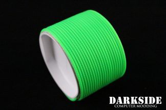 """5/64"""" ( 2mm ) DarkSide HD Cable Single Wire Sleeving - Green UV 1Ft-3"""
