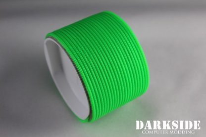 """5/64"""" ( 2mm ) DarkSide HD Cable Single Wire Sleeving - Green UV 1Ft-4"""