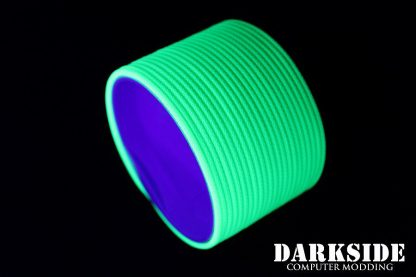 """5/64"""" ( 2mm ) DarkSide HD Cable Single Wire Sleeving - Green UV 1Ft-5"""
