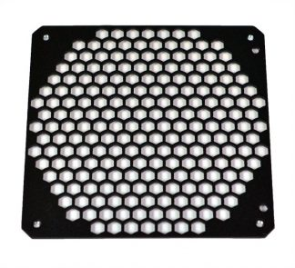 Hex-Mesh 140mm fan hole cover – BLACK