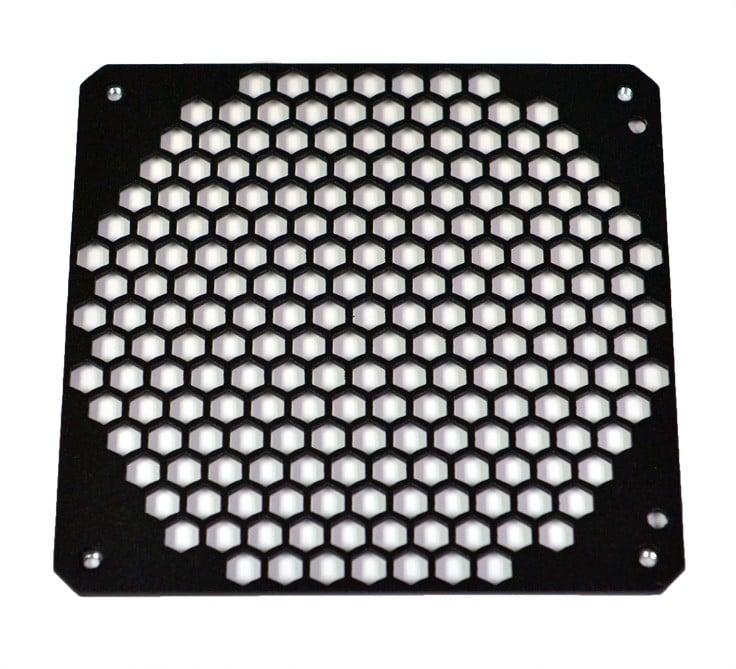Hex-Mesh 140mm fan hole cover – BLACK