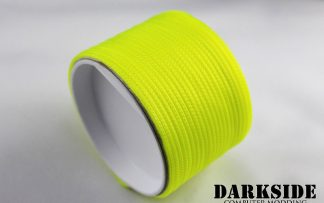 """5/64"""" ( 2mm ) DarkSide HD Cable Sleeving - Acid Yellow UV-5"""