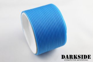 "5/64"" ( 2mm ) DarkSide HD Cable Sleeving - Aqua Blue UV-5"