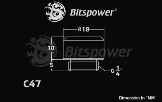 "G1/4"" Bitspower Multi-Link Adapter 10/12mm - Deluxe White (Single fitting)"