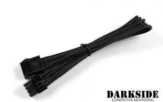 "8-Pin PCI-E HSL 12"" (30cm) DarkSide Single Braid Cable - Jet Black"