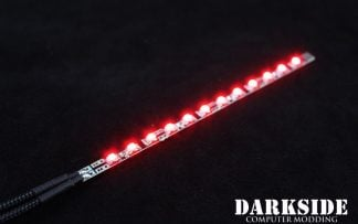 Dimmable 14cm LED - Red - Black Sleeved with 4-pin MOLEX Connector