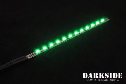 Dimmable 14cm LED - Green - Black Sleeved with 4-pin MOLEX Connector-4