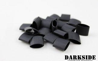 """Pack of 20 -  4:1 DARKSIDE Adhesive Heatshrink Tubing 12mm 15/32"""" - Jet Black"""