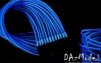 """5/64"""" ( 2mm ) DarkSide HD Cable Sleeving - Sky Blue"""