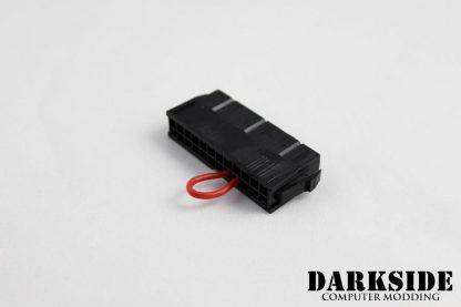 Bleeding 24-pin ATX jump start connector for power supply - Black