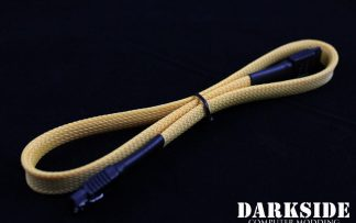 "45cm (18"") SATA 2.0/3.0 7P 180° to 180° cable with latch  - Yellow Sand"