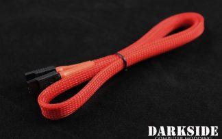 "60cm (24"") SATA 2.0/3.0 7P 180° to 180° cable with latch  - Red UV"