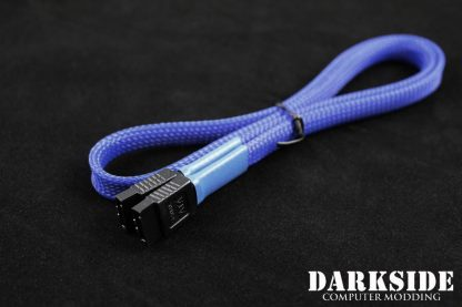 """60cm (24"""") SATA 2.0/3.0 7P 180° to 180° cable with latch  - Dark Blue UV"""