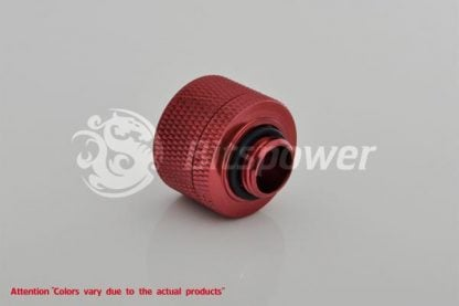 """1/2""""ID  3/4""""OD Straight Compression Fitting - Blood Red"""