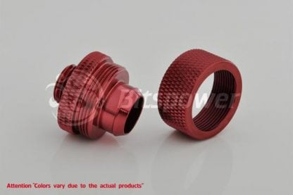 """1/2""""ID  3/4""""OD Straight Compression Fitting - Blood Red-2"""