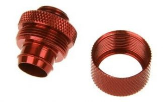 "3/8""ID  5/8""OD Straight Compression Fitting - Blood Red"