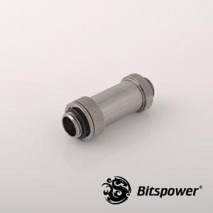 "Dual G1/4"" Adjustable Aqua Link Pipe II (41-69mm) - Black Sparkle"