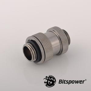 """Dual G1/4"""" Adjustable Aqua Link Pipe I (22-31mm) - Black Sparkle"""