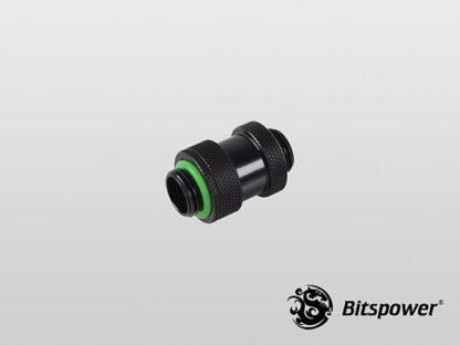 """Black Dual G1/4"""" Adjustable Aqua Link Pipe I (22-31mm) - Matt Black"""