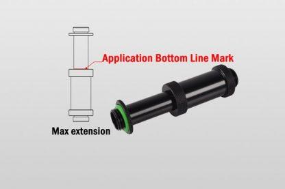 """Dual G1/4"""" Adjustable Aqua Link Pipe II (41-69mm) - Matt Black-2"""