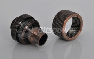 "3/8""ID  5/8""OD Straight Compression Fitting - Bronze Age"