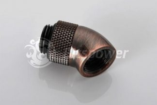 45 Degree High Flow Rotary Adapter M/F G1/4 - Bronze Age