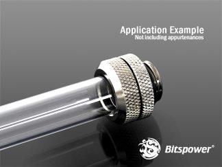 G1/4 Enhanced Multi-Link Adapter - 12mm OD Rigid Tube - Silver Shining