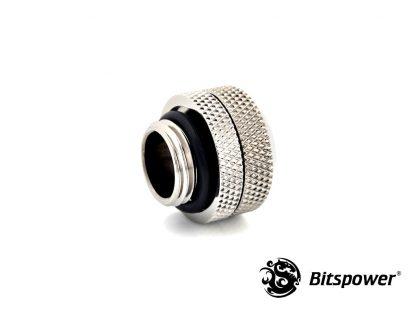 G1/4 Enhanced Multi-Link Adapter - 12mm OD Rigid Tube - Silver Shining-2