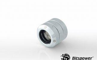 G1/4 Enhanced Dual Multi-Link Adapter - 12mm OD Rigid Tube - Silver Shining