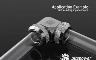 G1/4 Enhanced 90-Degree Dual Multi-Link Adapter - Silver Shining
