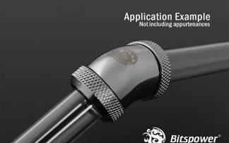 G1/4 Enhanced Dual 45-Degree Multi-Link Adapter - 12mm OD Rigid Tube - Silver Shining