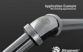 G1/4  Enhanced 60-Degree Dual Multi-Link Adapter - Silver Shining