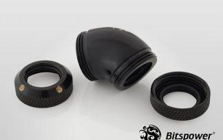 G1/4 Enhanced Dual 45-Degree Multi-Link Adapter - 12mm OD Rigid Tube - Matte Black