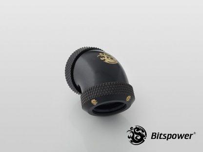 G1/4 Enhanced Dual 45-Degree Multi-Link Adapter - 12mm OD Rigid Tube - Matte Black-3
