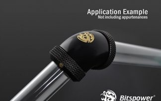 G1/4 Enhanced Dual 60-Degree Multi-Link Adapter - 12mm OD Rigid Tube - Matte Black