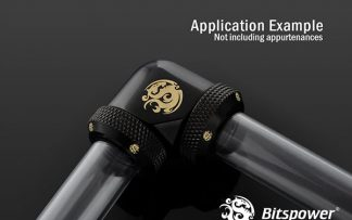G1/4 Enhanced Dual 90-Degree Multi-Link Adapter - 12mm OD Rigid Tube - Matte Black