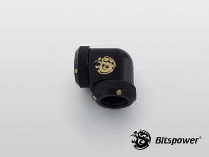 G1/4 Enhanced Dual 90-Degree Multi-Link Adapter - 12mm OD Rigid Tube - Matte Black-3