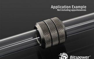 G 1/4 Enhanced Dual Multi-Link Adapter - 12mm OD Rigid Tube - Black Sparkle