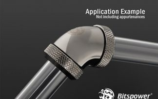 G1/4 Enhanced Dual 60-Degree Multi-Link Adapter - 12mm OD Rigid Tube - Black Sparkle