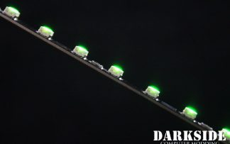 """12"""" ( 30cm ) Dimmable Rigid LED Strip V2 - GREEN - FIXED 3P CABLE"""